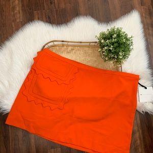 Victoria Beckham for Target Orange Scallop Skirt